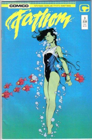 Fathom 3 Asleep in the Deep - Cool sea tale! Comico July 1987