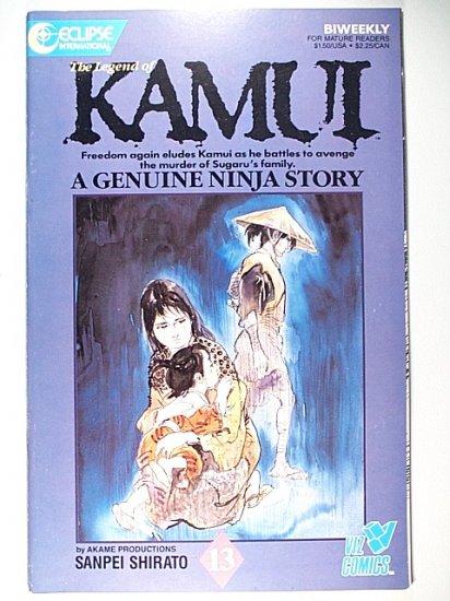 The Legend of Kamui 13 Eclipse Comics November 1987 Ninja martial arts