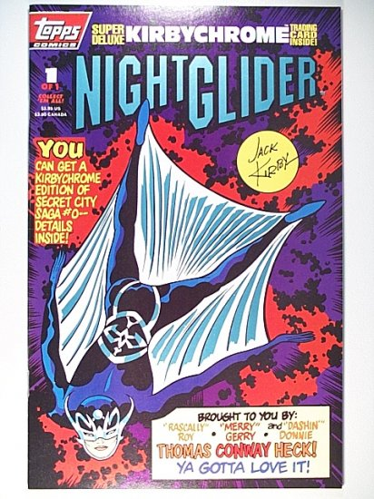 Night Glider 1 Topps Comics April 1993 Jack Kirby, Roy Thomas, Gerry Conway, Don Heck