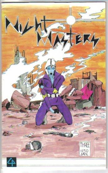 Night Masters 3 Custom Pic Comics 1986 Bruce Patnaude