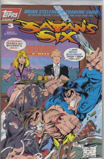 Satan's Six 3 Topps Comics June 1993 Another Jack Kirby amazing inspiration