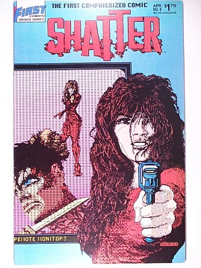 Shatter 8 April 1987 The First Computerized Comic - First Comics