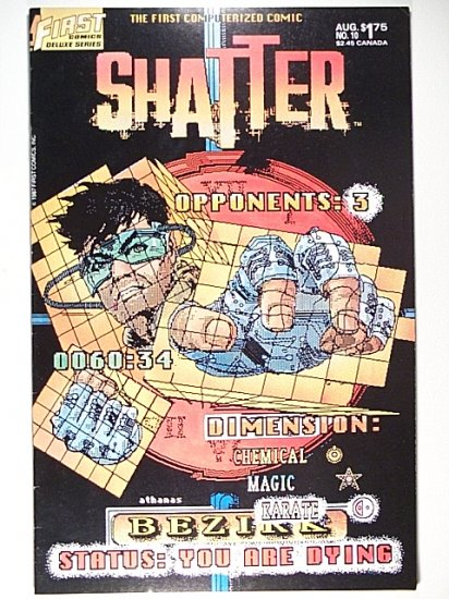 Shatter 10 August 1987 The First Computerized Comic - First Comics