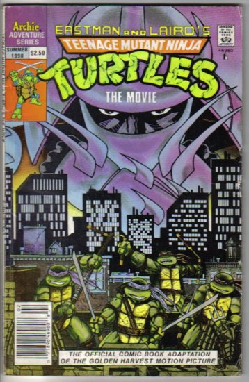 Teenage Mutant Ninja Turtles: The Movie Summer 1990 - Eastman & Laird - Archie Publications