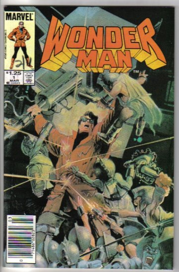 Wonder Man 1 March 1986 Marvel Comics painted cover Bill Sienkiewicz