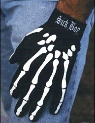 BIKER SKELETON GLOVES XL ~SickBoy Motorcycles / Choppers ~