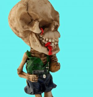 Collectible Caribbean Pirates Skull BobbleHead