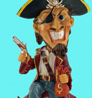 Collectible Caribbean Pirate Bobble Head