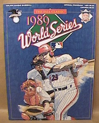 1989 MLB WORLD SERIES GAME PROGRAM UNUSED NEAR MINT