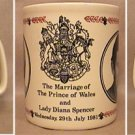 PRINCE OF WALES LADY DIANA WEDDING 7/29 1981 COFFEE MUG