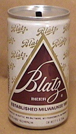 BLATZ BEER CAN BANK ALUMINUM new unused 1970s 1980s