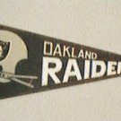 "OAKLAND RAIDERS MINI NFL FOOTBALL PENNANT 8-3/4"" long"