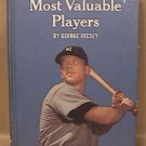 BASEBALLS MOST VALUABLE PLAYERS HARD COVER BOOK GEORGE VECSEY 1966 RANDOM HOUSE