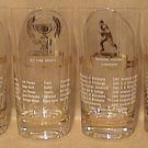 SET 4 GREAT SPORTS CHAMPION LEGENDS 1953 GLASSES RUTH BASEBALL FOOTBALL TENNIS GOLD TRIM