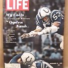 LIFE MAGAZINE BALTIMORE COLTS FOOTBALL COVER DECEMBER 13 1968 EX NICE