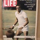 LIFE MAGAZINE ARTHUR ASHE TENNIS COVER SEPTEMBER 20 1968 EX NICE COND