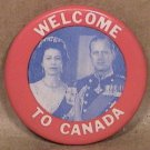 PRINCESS ELIZABETH QUEEN DUKE OF EDINBOROUGH 1950s PIN WELCOME TO CANADA