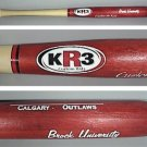 MINI BASEBALL BAT KR 3 CALGARY OUTLAWS BROCK UNIVERSITY SOUVENIR 2003 WOOD 18""