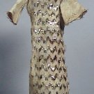 TOPPER DAWN DRESS ZIG ZAG DAZZLER EVENING GOWN 1970