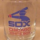 CHICAGO WHITE SOX GLASS OLD LOGO GASOLINE PREMIUM 1980s COCKTAIL 8 oz