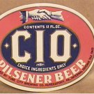 CIO BEER LABELS 10 UNUSED 1940s INTERNAL REVENUE TAX PAID TUBE CITY McKEESPORT