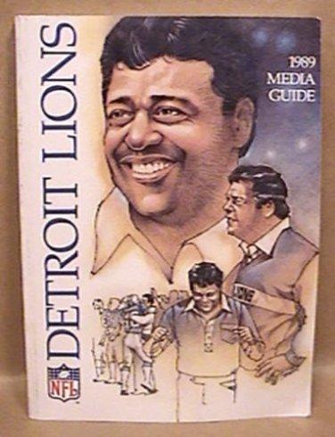 DETROIT LIONS MEDIA GUIDE BOOK FOOTBALL 1989 NFL SANDERS SPIELMAN GRAY PEETE