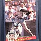 GRAIG NETTLES SIGNED 1986 DONRUSS ACTION ALL STARS AUTOGRAPH BASEBALL CARD