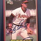DOUG DECINCES SIGNED 1984 DONRUSS ACTION ALL STARS AUTOGRAPH BASEBALL CARD