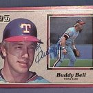 BUDDY BELL SIGNED 1983 DONRUSS ACTION ALL STARS AUTOGRAPH BASEBALL CARD