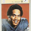 OJ SIMPSON BUFFALO BILLS FOOTBALL 1977 SPORTSCASTER CARD