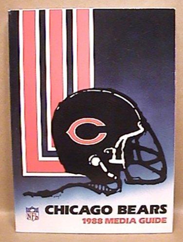 1988 CHICAGO BEARS FOOTBALL MEDIA GUIDE BOOK DENT, McMAHON DITKA HAMPTON