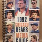 1992 CHICAGO BEARS FOOTBALL MEDIA GUIDE DITKA DENT SINGLETARY BUTLER
