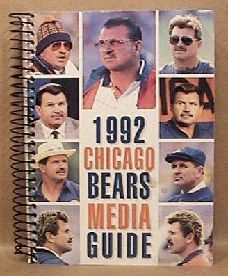 1992 CHICAGO BEARS FOOTBALL MEDIA GUIDE DITKA DENT SINGLETARY BUTLER