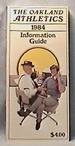 1984 OAKLAND ATHLETICS BASEBALL INFORMATION GUIDE MEDIA HENDERSON MORGAN