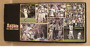1984 CALIFORNIA ANGELS BASEBALL INFORMATION MEDIA GUIDE CAREW JACKSON