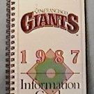 1987 SAN FRANCISCO GIANTS BASEBALL INFORMATION MEDIA GUIDE CLARK DAVIS KRUKOW GLADDEN
