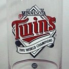 MINNESOTA TWINS 1991 WORLD CHAMPIONS UNION 76 GASOLINE PREMIUM GLASS