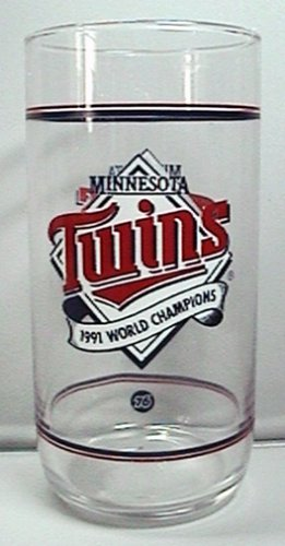 MINNESOTA TWINS 1991 WORLD CHAMPIONS UNION 76 GASOLINE PREMIUM GLASS