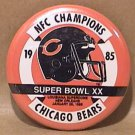 "1985 CHICAGO BEARS NFC CHAMPIONS SUPERBOWL XX 2 1/2"" PIN NFL FOOTBALL"