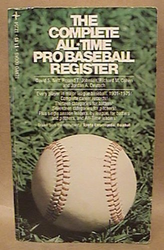 THE COMPLETE ALL TIME PRO BASEBALL REGISTER PAPERBACK BOOK GROSSET & DUNLAP 1976