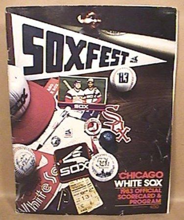1983 CHICAGO WHITE SOX 75th ANNIVERSARY SEASON OFFICIAL SCORE BOOK SCORED