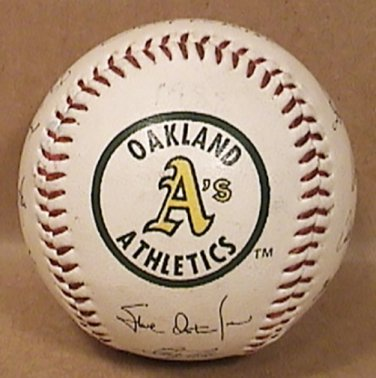 OAKLAND ATHLETICS BASEBALL A's 1990s SIMULATED STAMPED TEAM AUTOGRAPH 31 FLAVORS