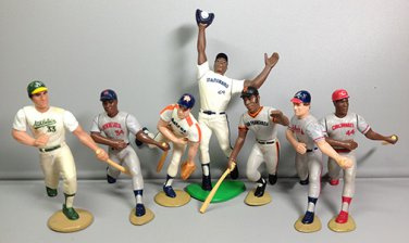7 STARTING LINE UP BASEBALL FIGURES PUCKETT MURPHY CANSECO KENNER