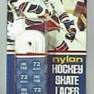 """PHIL ESPOSITO 1975 1976 NHL HOCKEY SKATE LACES 72"""" ENDORSED 50 yr RANGERS"""