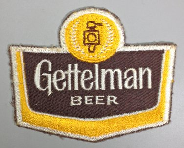 VINTAGE GETTELMAN BEER PATCH MILWAUKEE NEW UNUSED 1960s CLOTH SEW ON