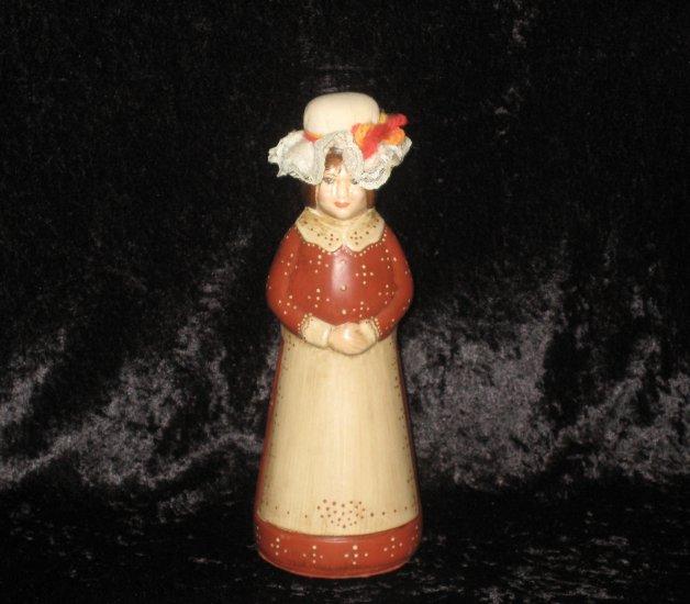 Vintage hand painted,  doll figurine 8 1/2 tall