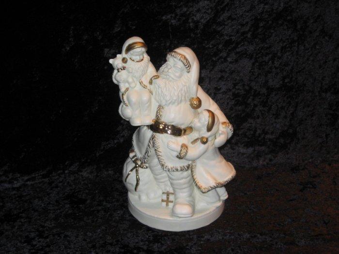 Santa porcelain figurine, marked Buchase, 1986