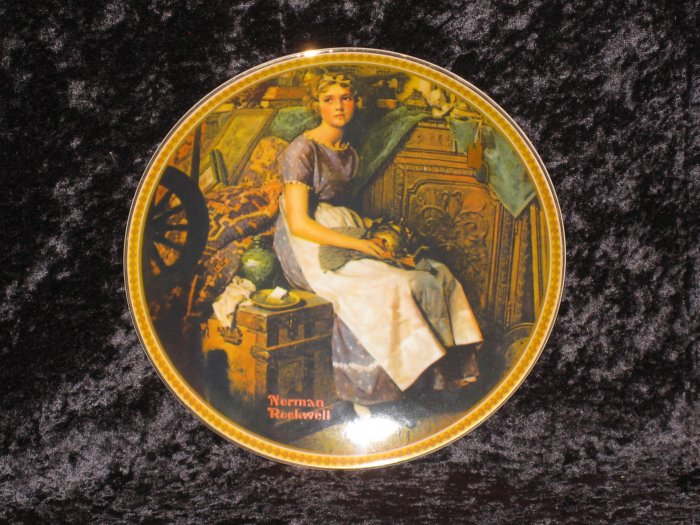 Original Norman Rockwell plate, COA, Limited Edition