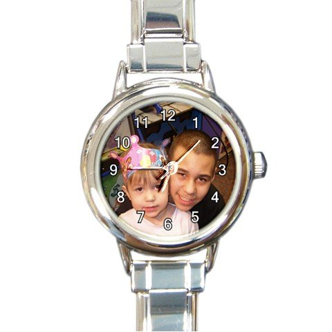 New Personalized With Image or your own Photo round Charm Watch