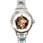 New Italian Charm round Watch Wiccan Star
